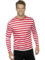 Stripy T-Shirt Red & White