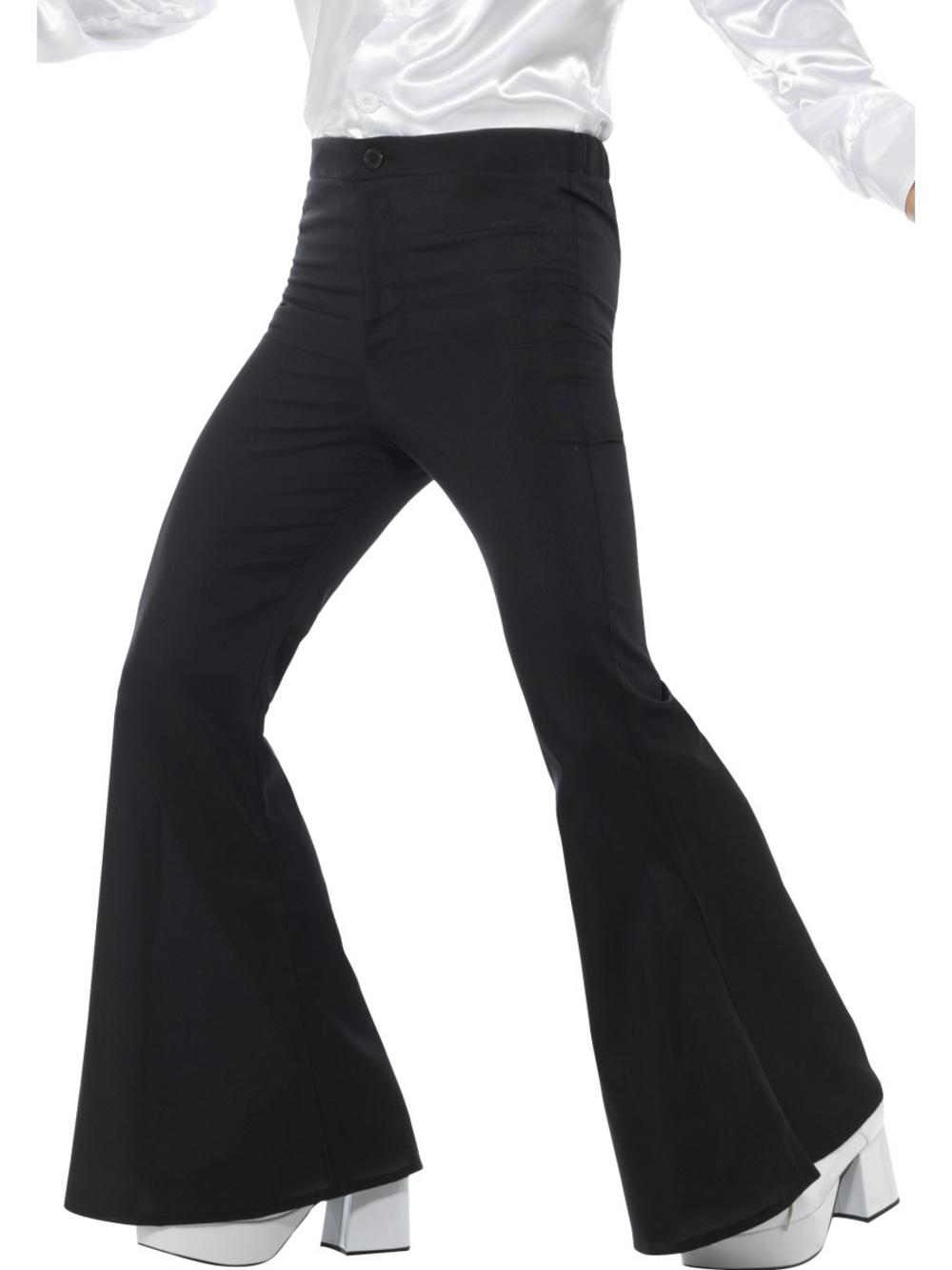Black Flared Trousers Mens