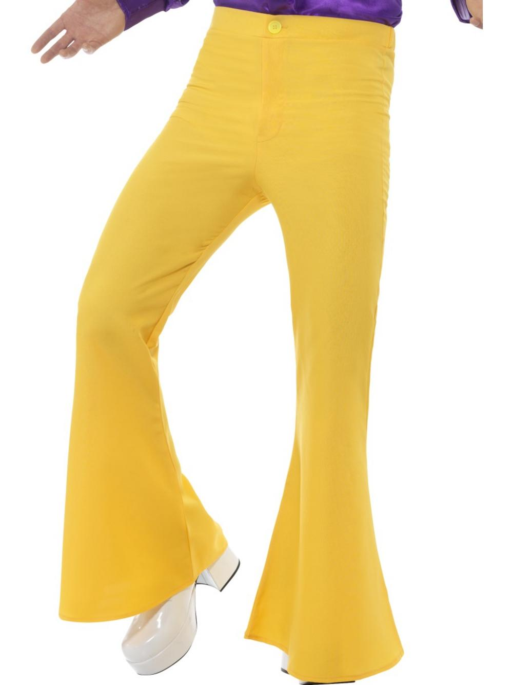 Yellow Flared Trousers Mens