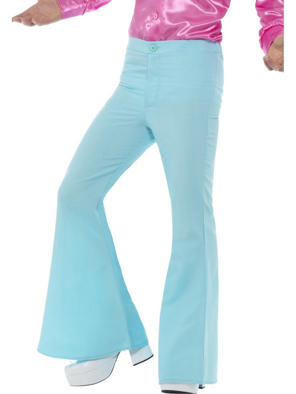Blue Flared Trousers Mens
