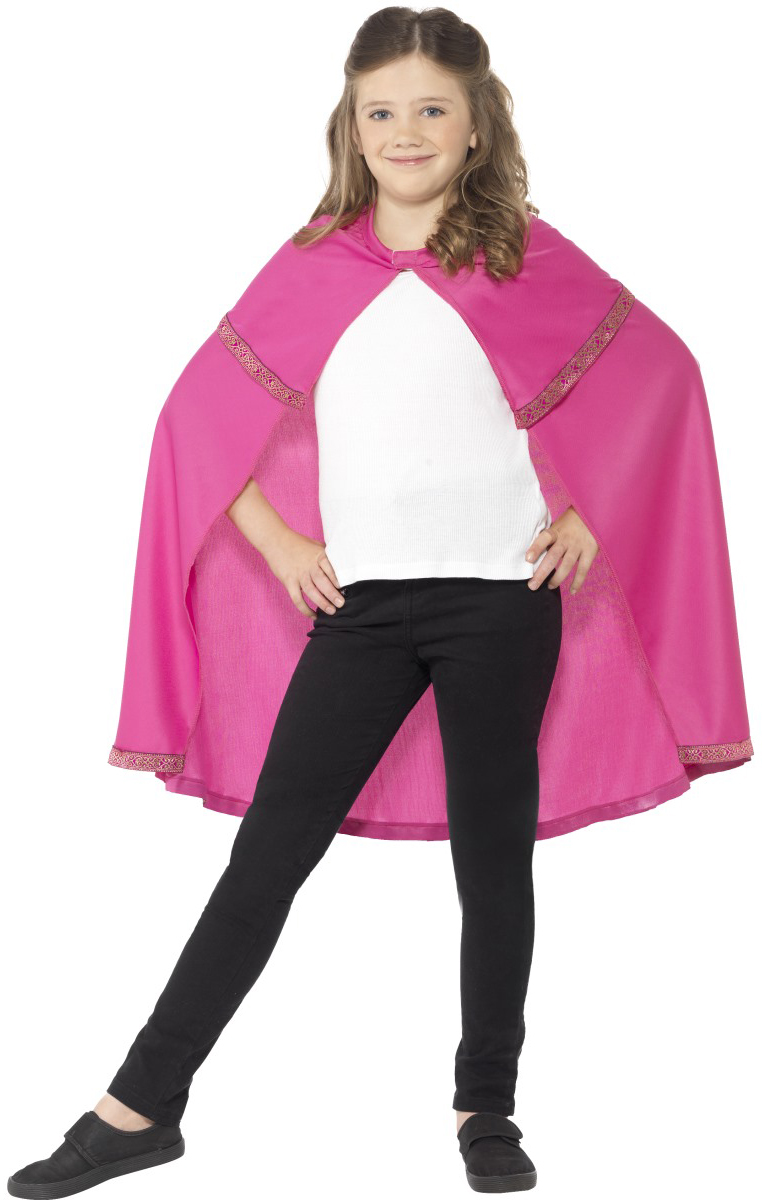 Pink Cape Girls Costume Accessory