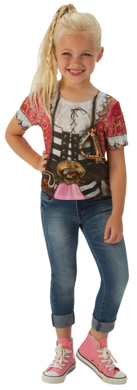 Pirate Girl T-Shirt Kids Costume