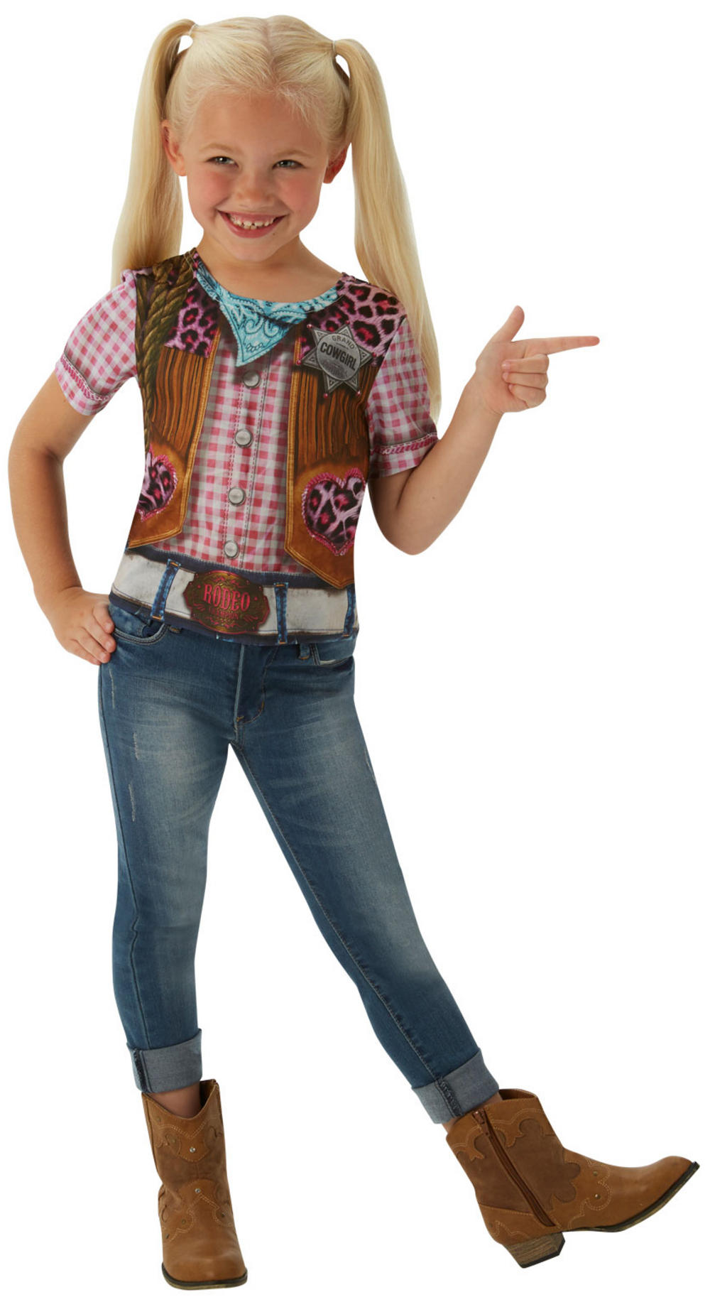 Cowgirl Girl T-Shirt Kids Costume