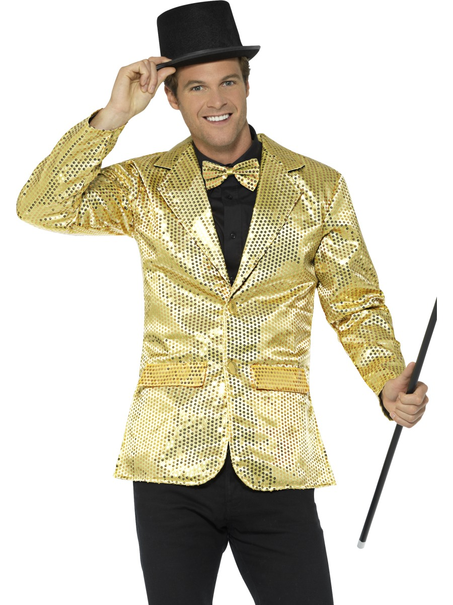 gold sequin jacket mens costume herren karneval kost me mega fancy dress. Black Bedroom Furniture Sets. Home Design Ideas
