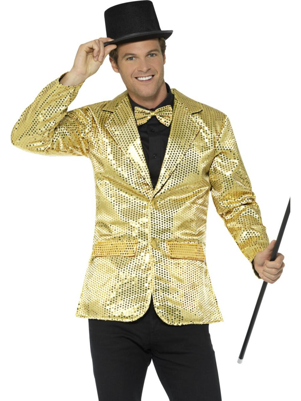 Gold Sequin Jacket Mens Costume