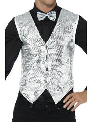 Silver Sequin Waistcoat
