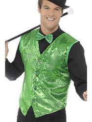 Green Sequin Waistcoat