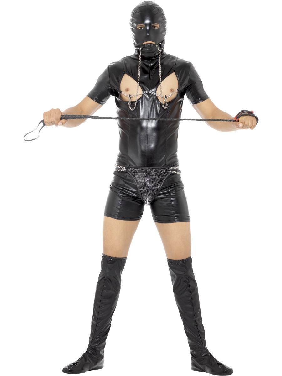 Mens Gimp Costume Stag Do Fancy Dress Adult Male Bondage Outfit Size Medium