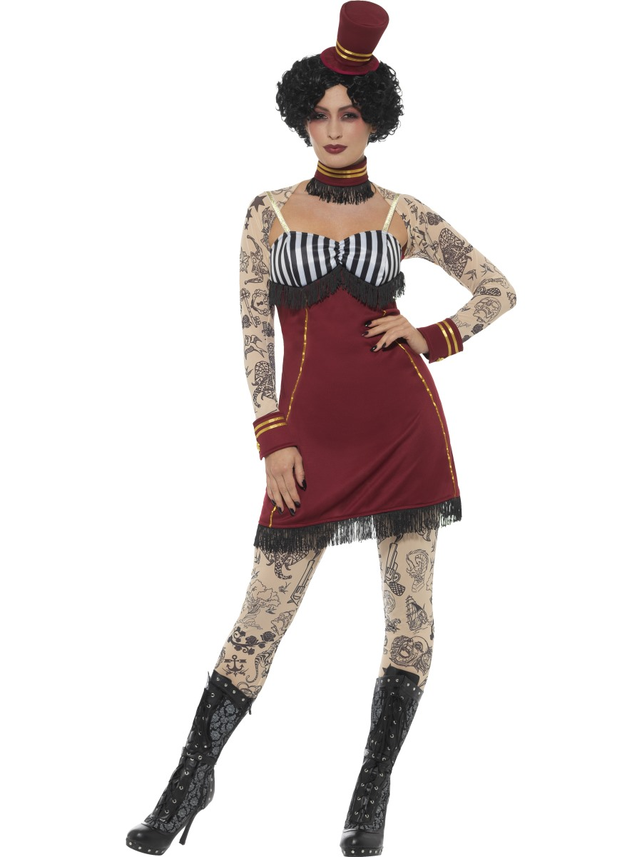 Deluxe Tattoo Lady Costume All Ladies Halloween Costumes