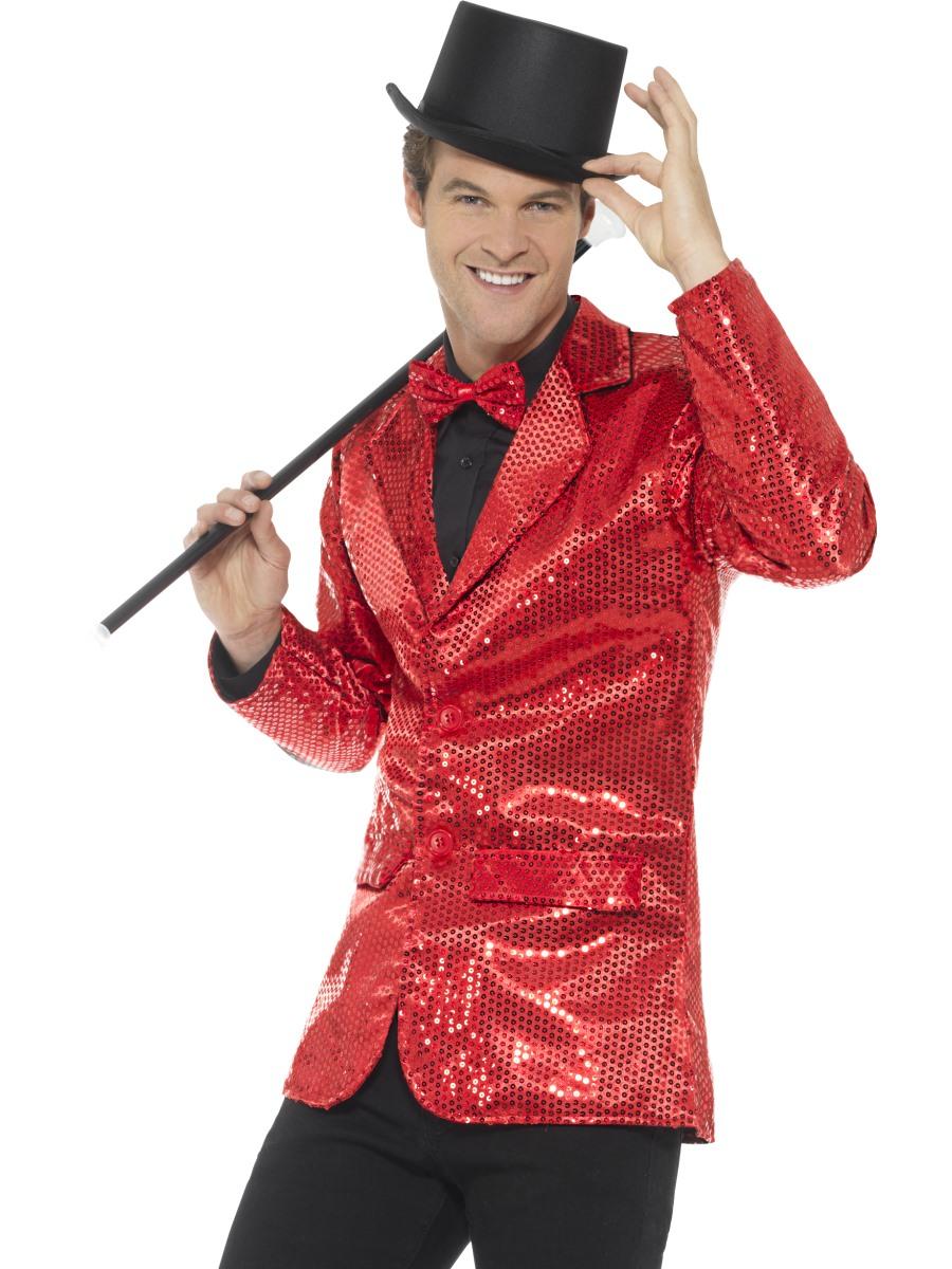 9e9c8f7c Red Sequin Jacket Mens | Herren Karneval Kostüme | Mega Fancy Dress