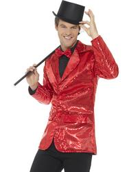 Red Sequin Jacket Mens