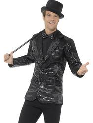 Black Sequin Jacket Mens