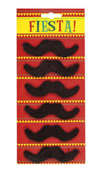 6 Set Fiesta Moustaches Mens Costume Accessory