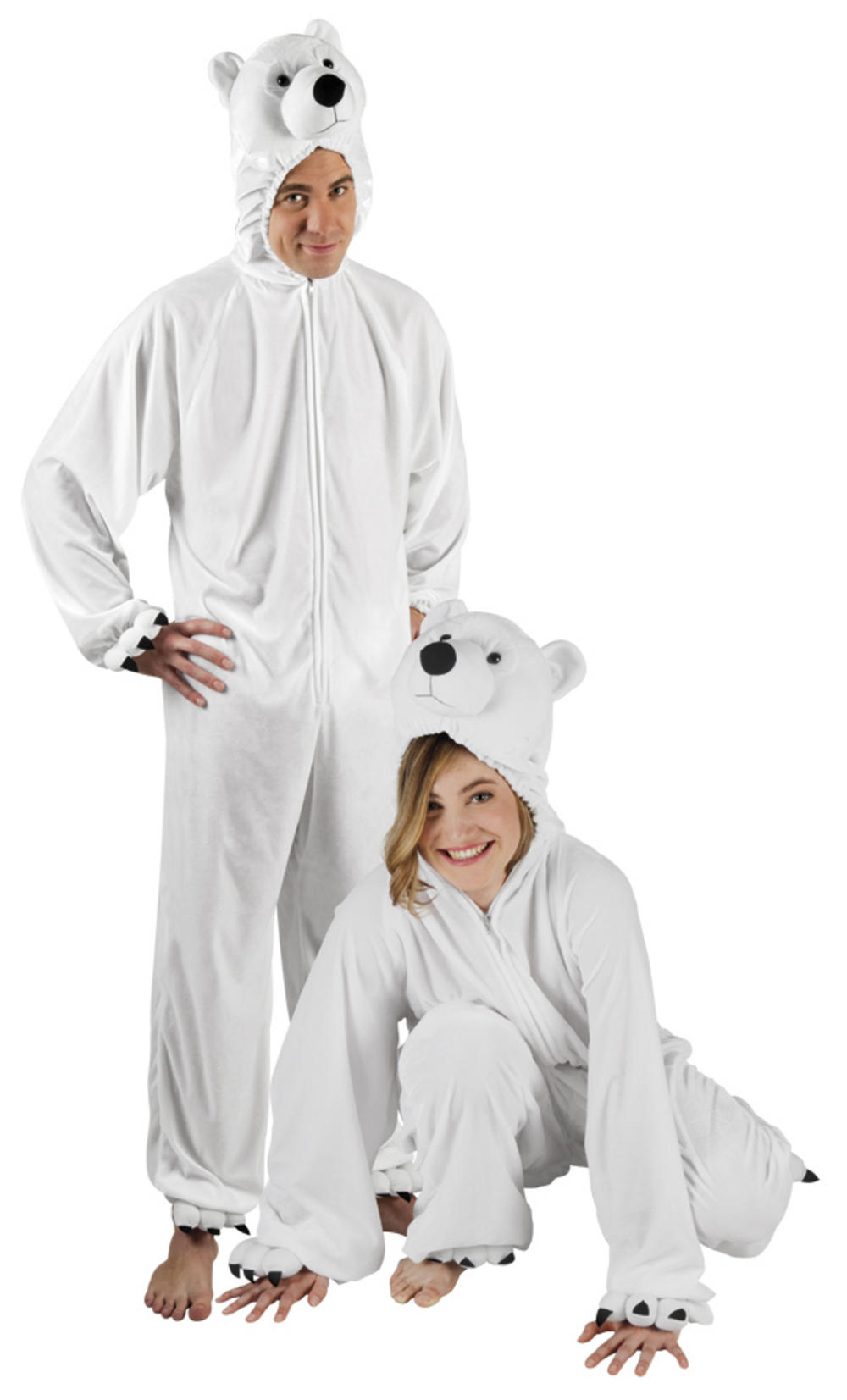 Plush Polar Bear Adults Costume