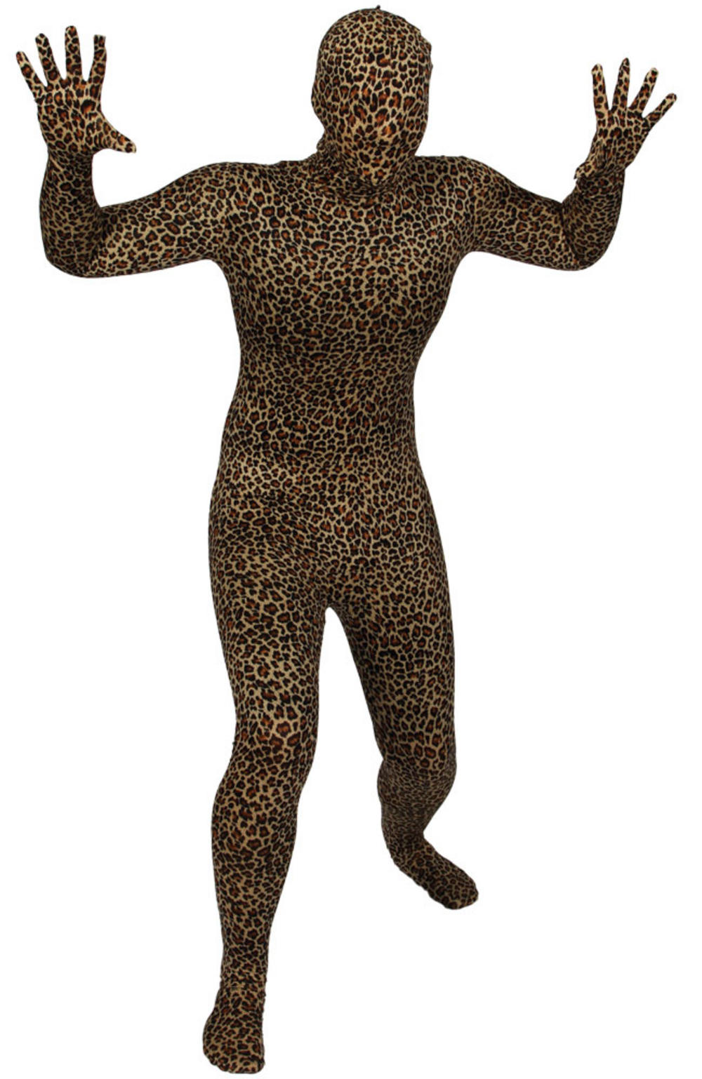 Leopard Bodysuit Skinz Fancy Dress Skin Suit Halloween Stag Costume