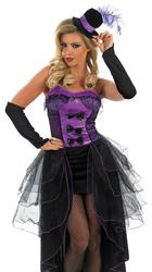 Purple Burlesque Dancer Costume