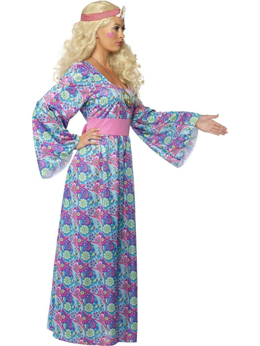 Ladiesu0027 Flower Child Hippie Fancy Dress Costume  sc 1 st  Mega Fancy Dress & Ladiesu0027 Flower Child Hippie Fancy Dress Costume | All Ladies ...
