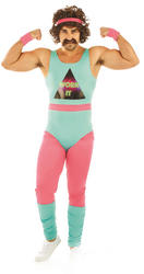 80s Fitness Instructor Mens Costume