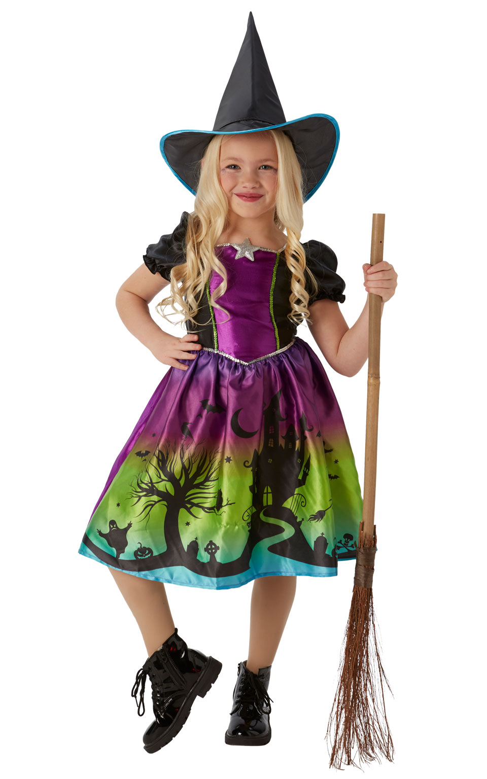 Ombre Witch Kids Costume | All Halloween