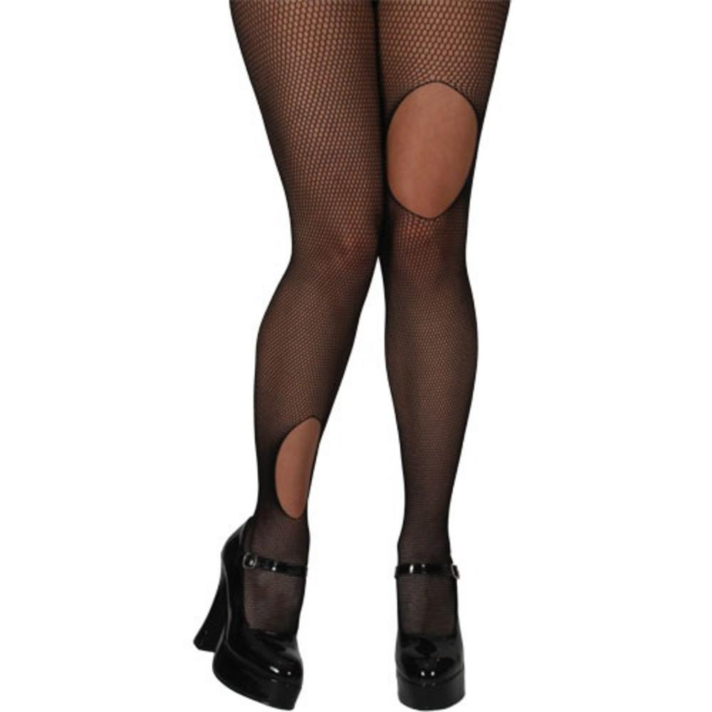 Ripped Fishnet Tights Costume Accessories Mega Fancy Dress
