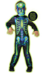 Neon Skeleton Kid's Costume