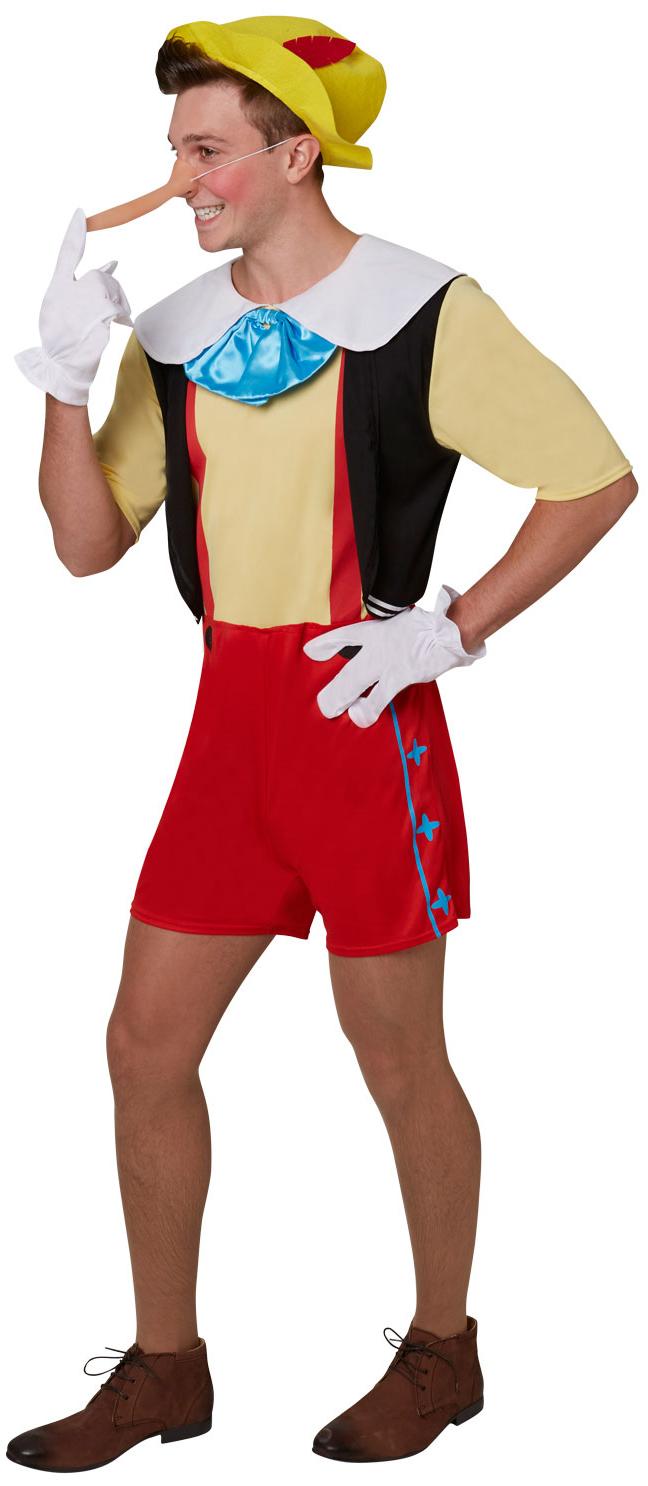 PINOCCHIO fairytale PUPAZZO adulto libro settimana men/'s Fancy Dress Costume M-XL