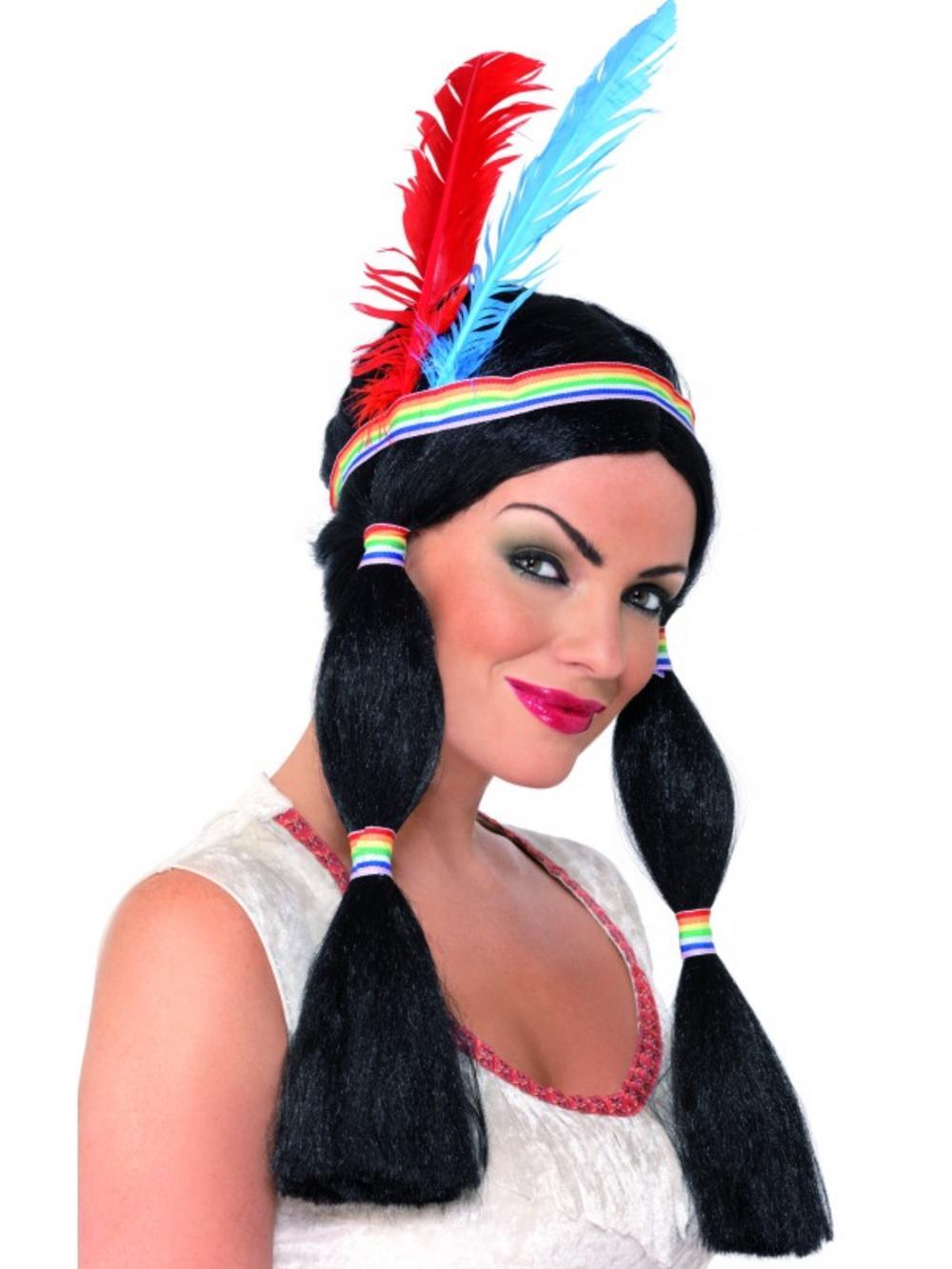 Ladies' Indian Princess Fancy Dress Wig