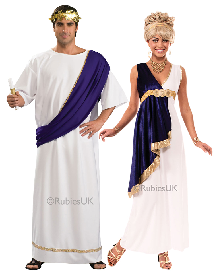 4303d158a47b Sentinel Grecian Adults Fancy Dress Historic Ancient Greek Roman Toga Tunic  Costumes New
