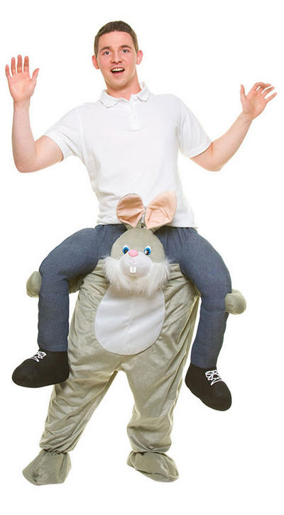 Carry Me Funny Rabbit Adult's Costume
