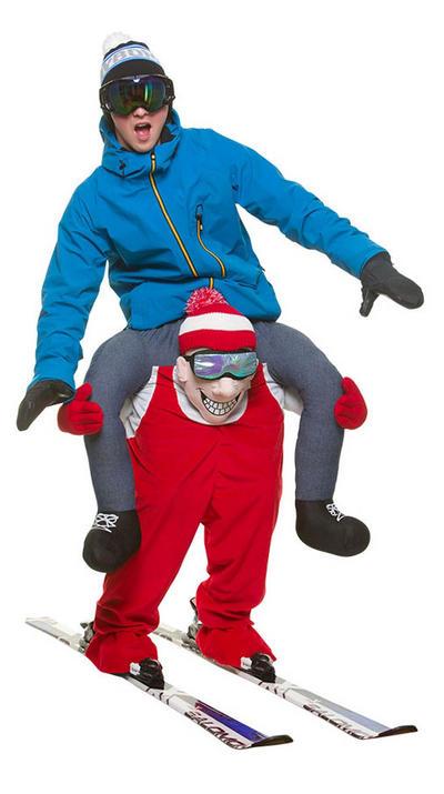 Carry Me Skiier Adult's Costume