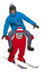 Carry Me Skiier Adults Costume