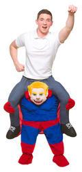 Carry Me Superhero Adult's Costume