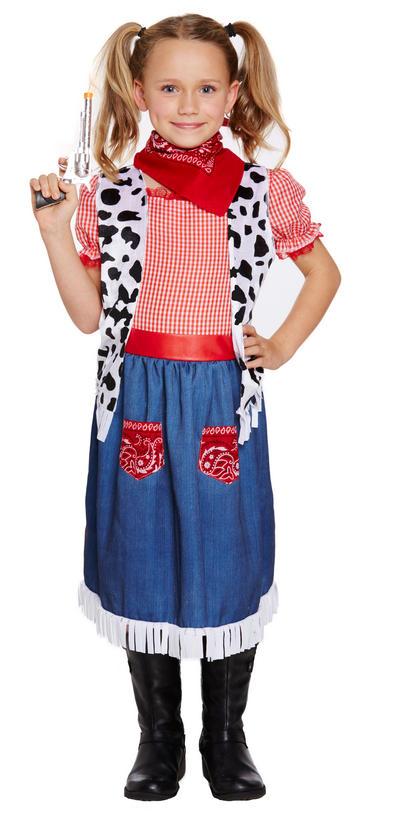 Denim Cowgirl Kid's Costume