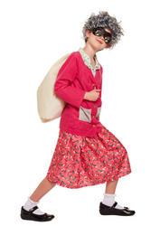 Gangster Grandma Kid's Costume