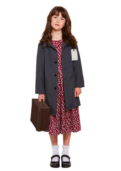 Evacuee Girl Kid's Costume
