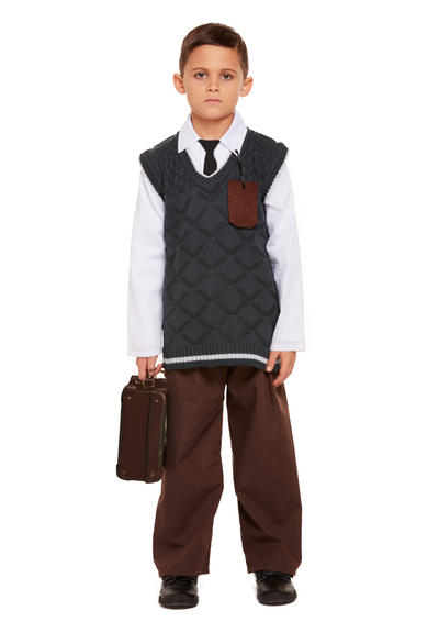 Evacuee Boy Kids Costume