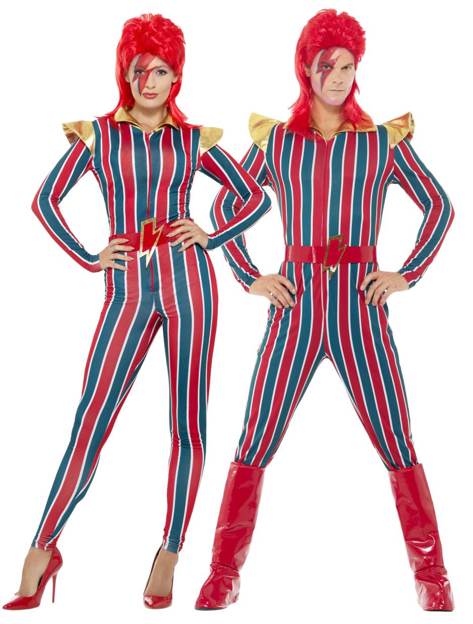 Sentinel Ziggy Stardust Adults Fancy Dress David Bowie 80s Celebrity Mens Womens Costume  sc 1 st  eBay & Ziggy Stardust Adults Fancy Dress David Bowie 80s Celebrity Mens ...