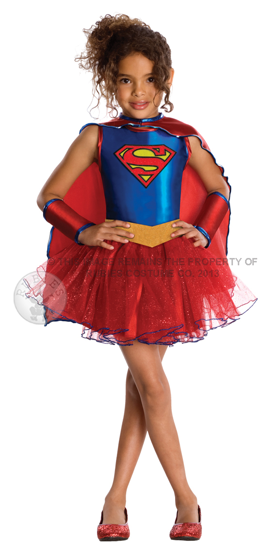 Supergirl Girls Fancy Dress Dc Superhero Comic Book Tv Show Kids