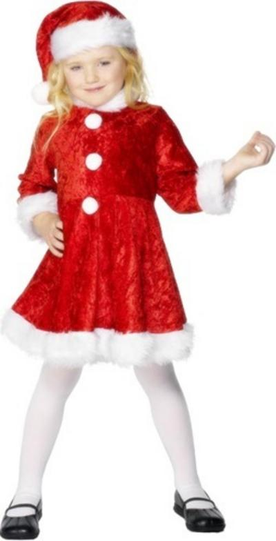 Girls Mini Miss Santa Claus Christmas Costume