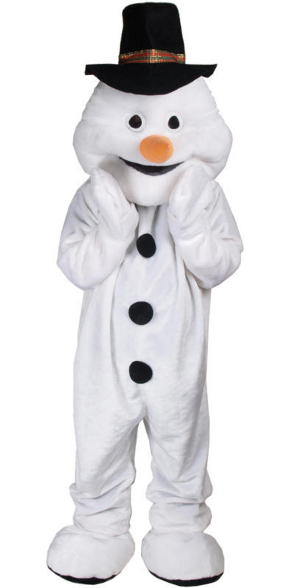 Snowman Mascot Fancy Dress Costume