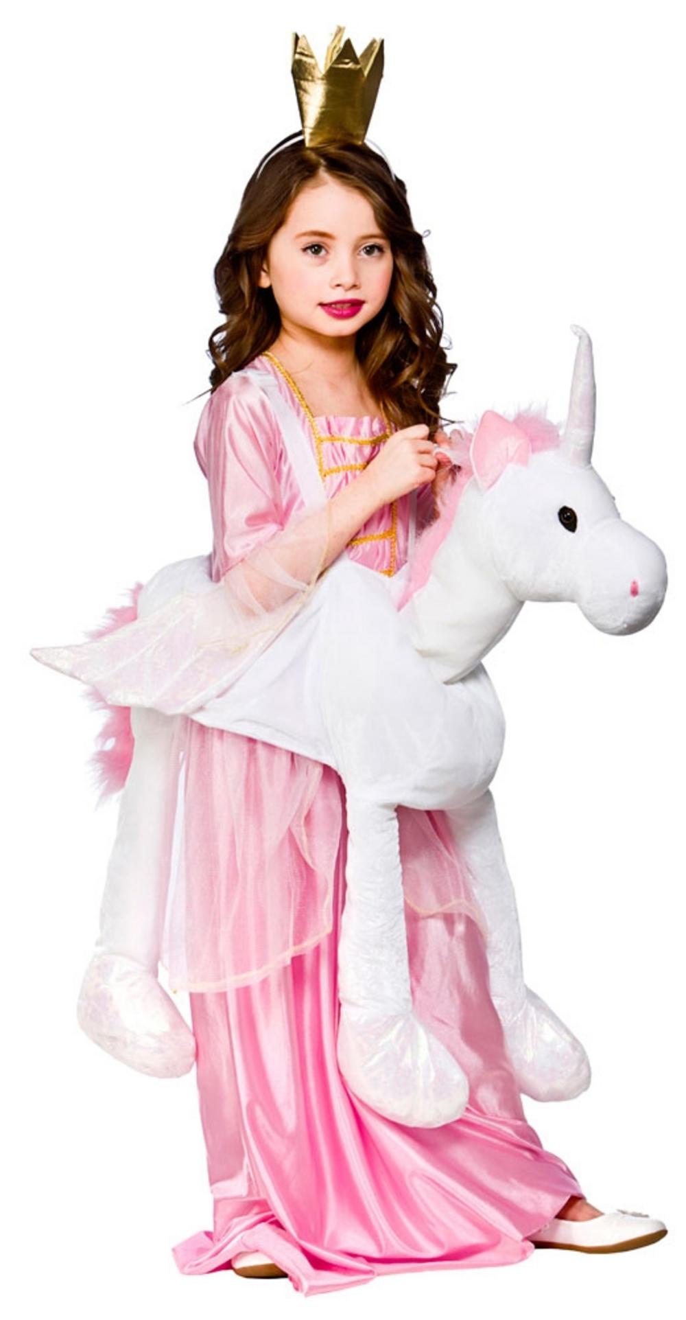 Girlu0026#39;s Ride On Unicorn Costume | Animal Costumes | Mega Fancy Dress