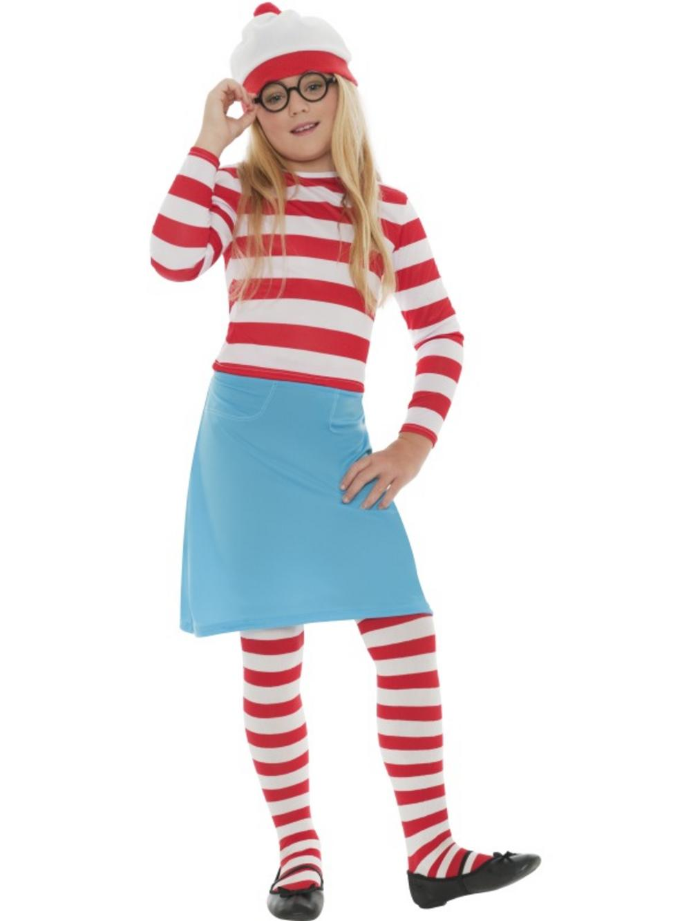 Wheres Wally Wenda Girls Costume Girls World Book Day Fancy