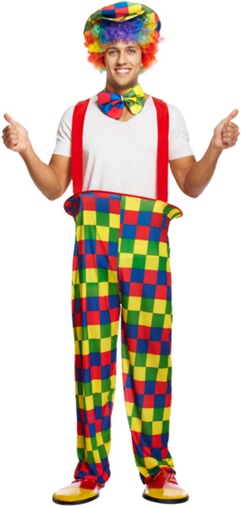 Rainbow Clown Costume