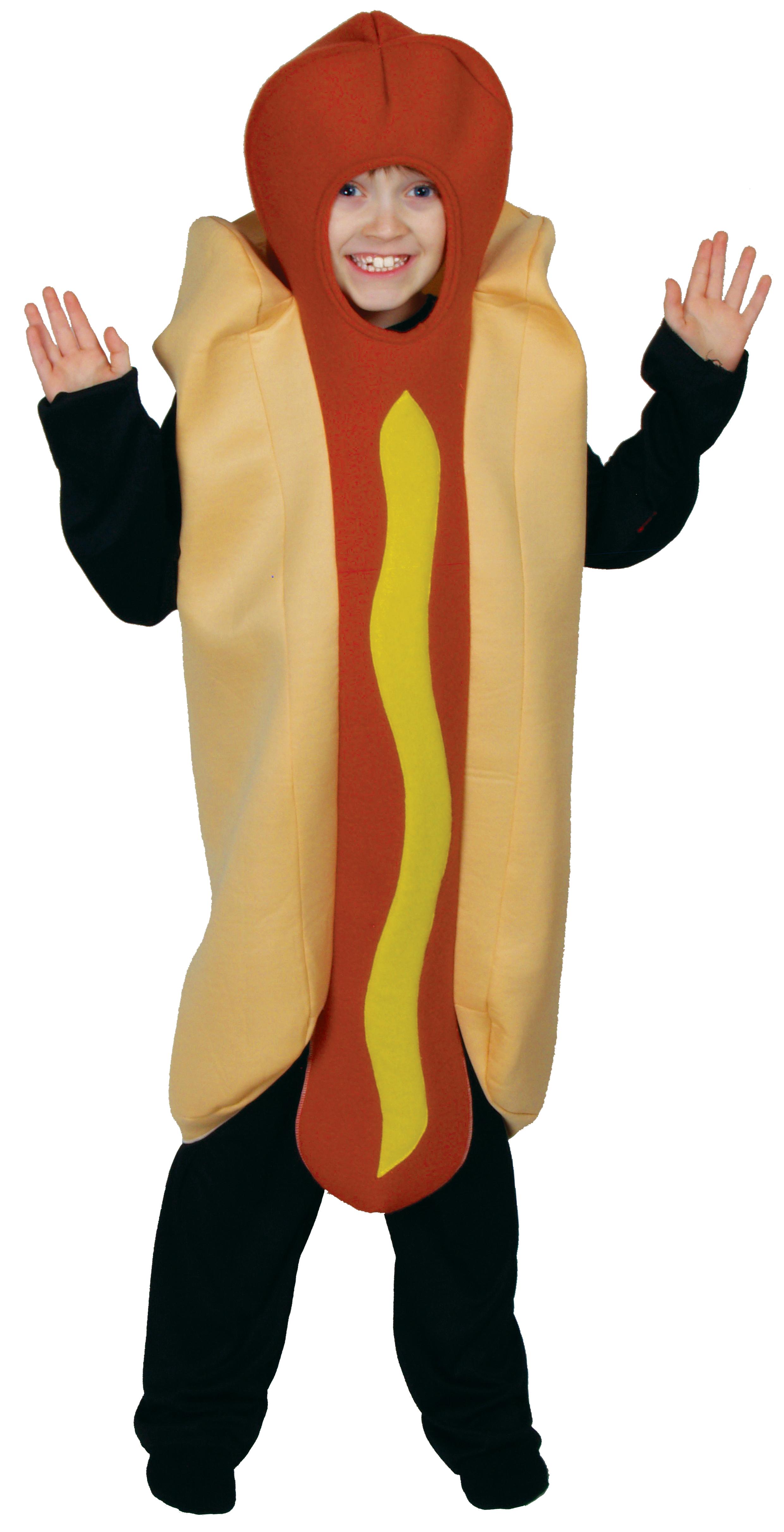 Kid's Hot Dog Costume   Boys Fancy Dress Costumes   Mega Fancy Dress Hot Dog Costume