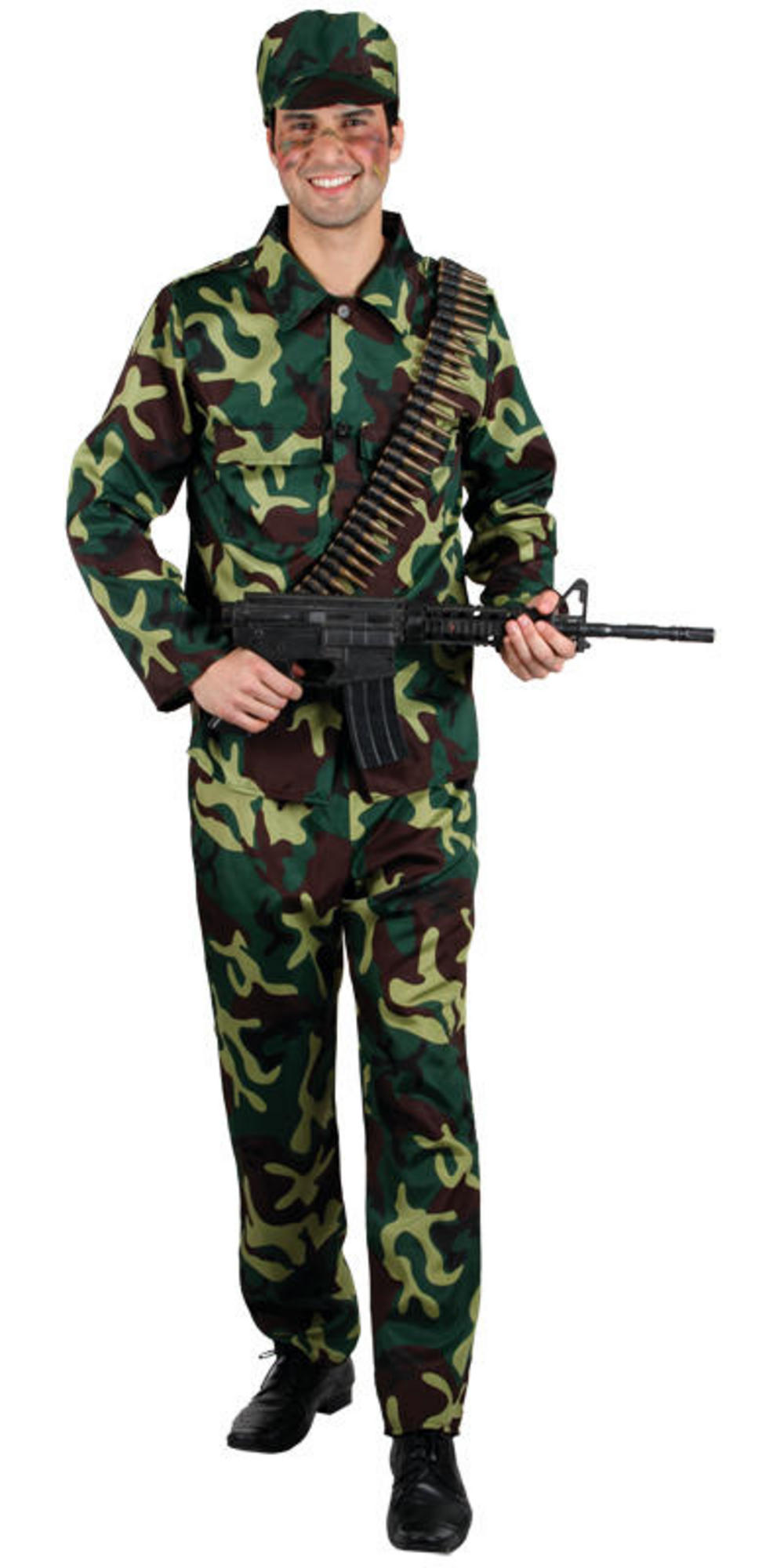 Mens Army Soldier Fancy Dress Costume