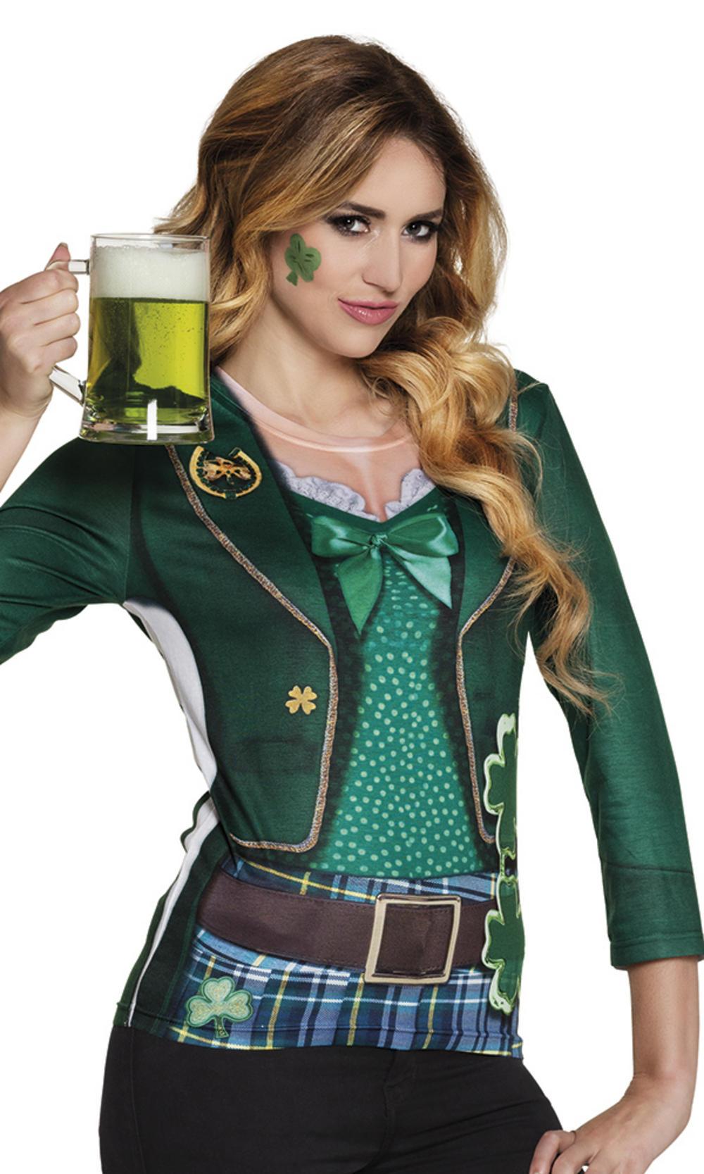 Adults Photorealistic Irish Lady Shirt