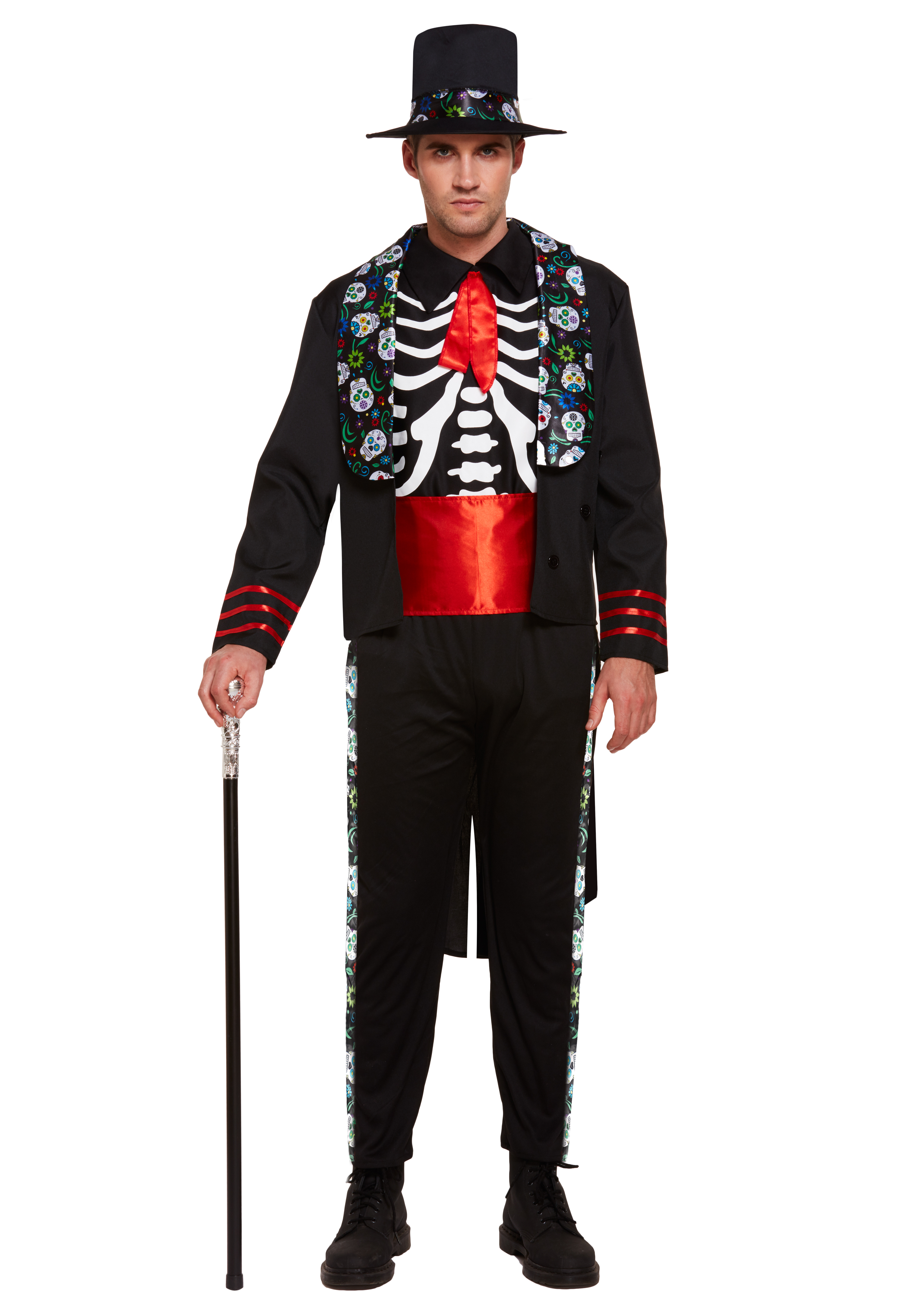 Day Of The Dead Mens Costume All Mens Halloween Costumes Mega