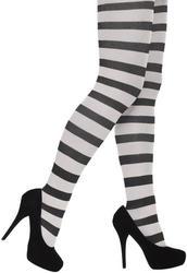 Black & White Striped Tights Ladies Costume Accessory