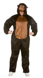 Deluxe Gorilla Adults Fancy Dress Animal Ape Monkey Book Day Mens Ladies Costume