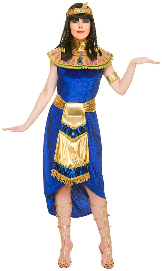 Deluxe Adult Cleopatra Costume Ladies Egyptian Fancy Dress Nile Queen Outfit